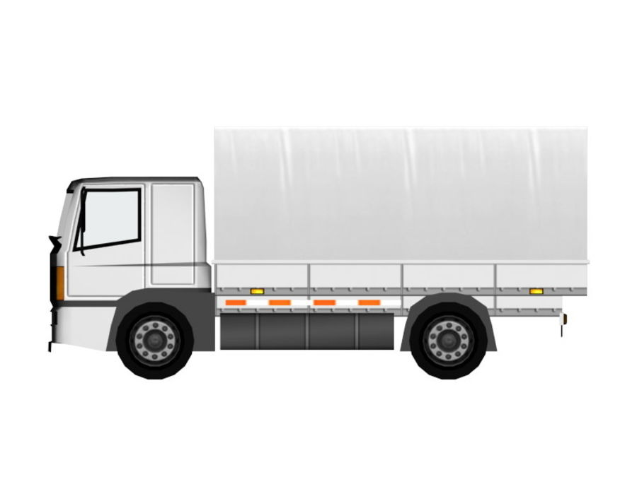 Lastbil (låg poly) royalty-free 3d model - Preview no. 7