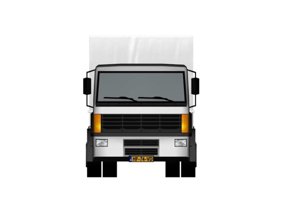 Lastbil (låg poly) royalty-free 3d model - Preview no. 5