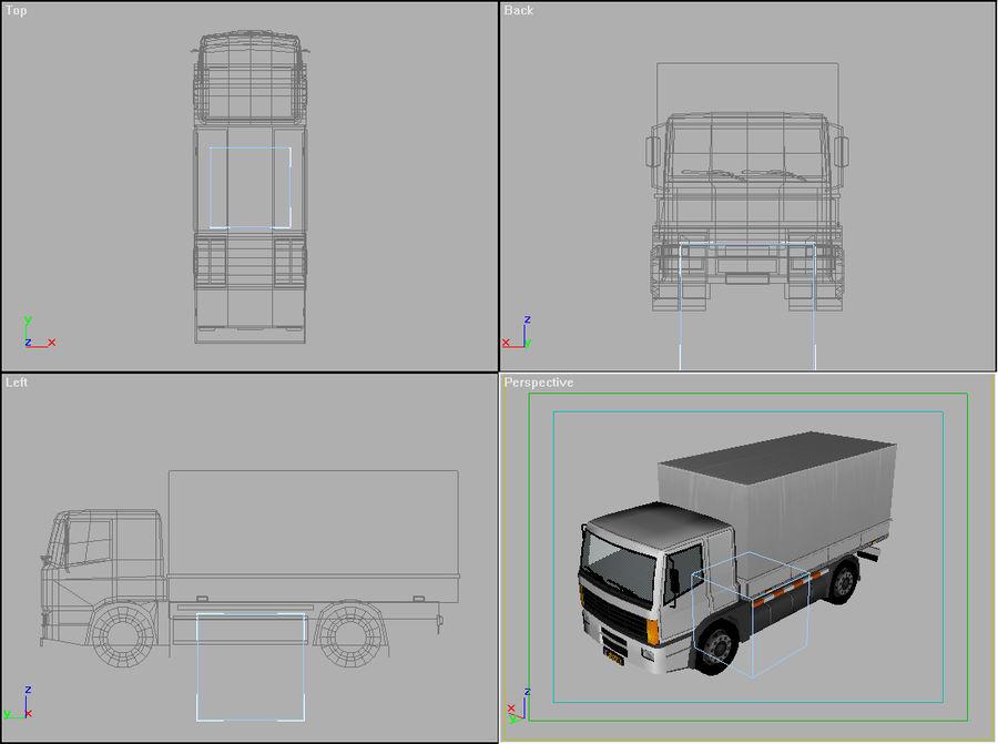 Lastbil (låg poly) royalty-free 3d model - Preview no. 2