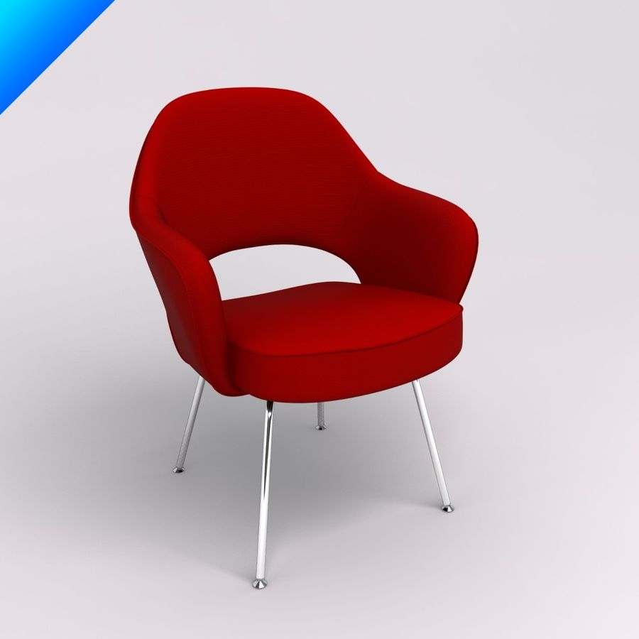 Saarinen Executive Chair Royalty Free 3d Model   Preview No. 1