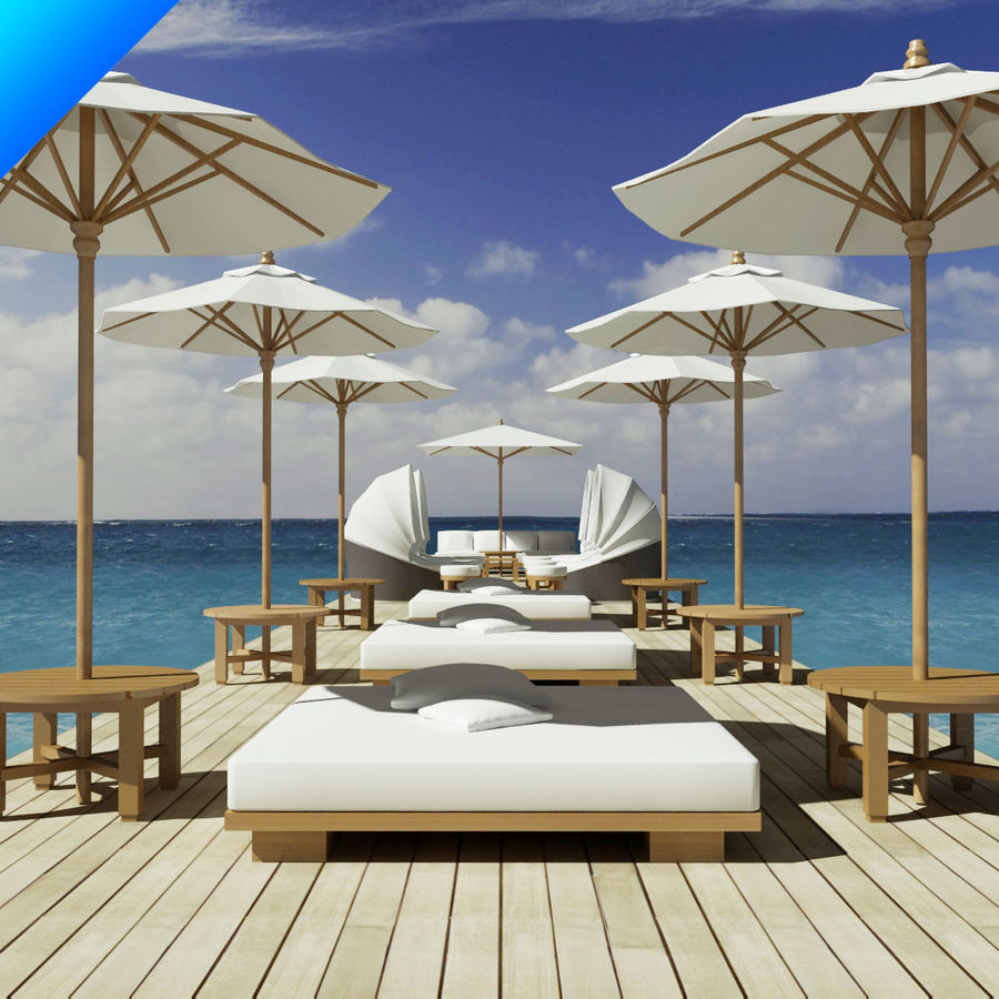 Beach Furniture Collection 3d Model 25 Max Obj Ma