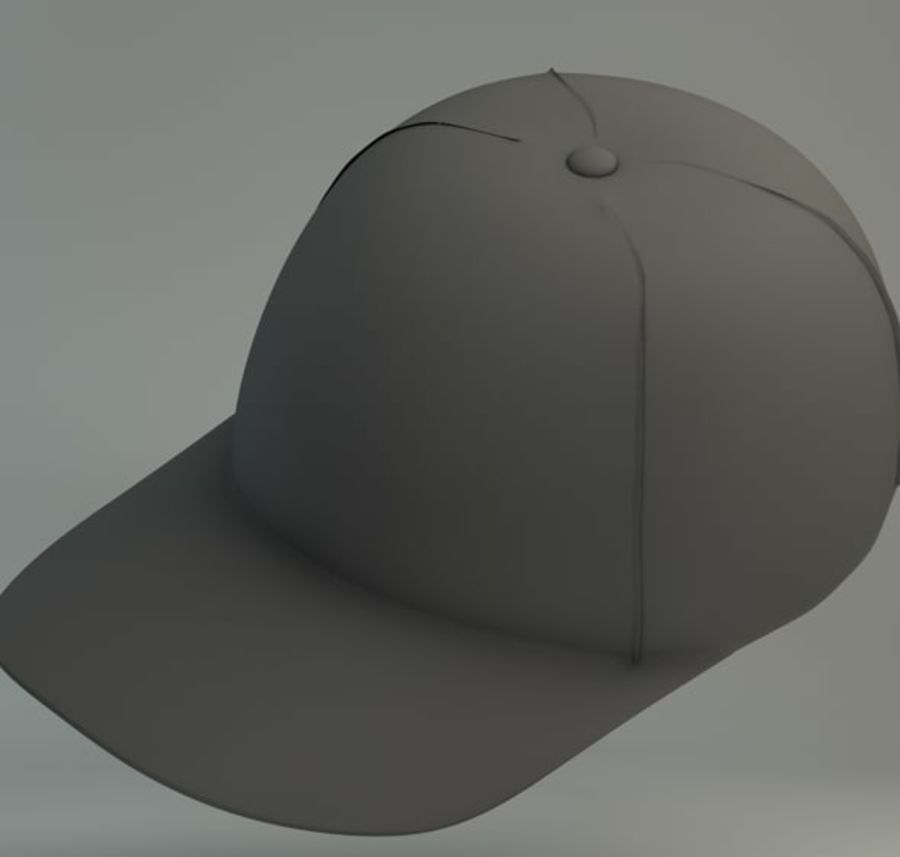 Boné de baseball royalty-free 3d model - Preview no. 5