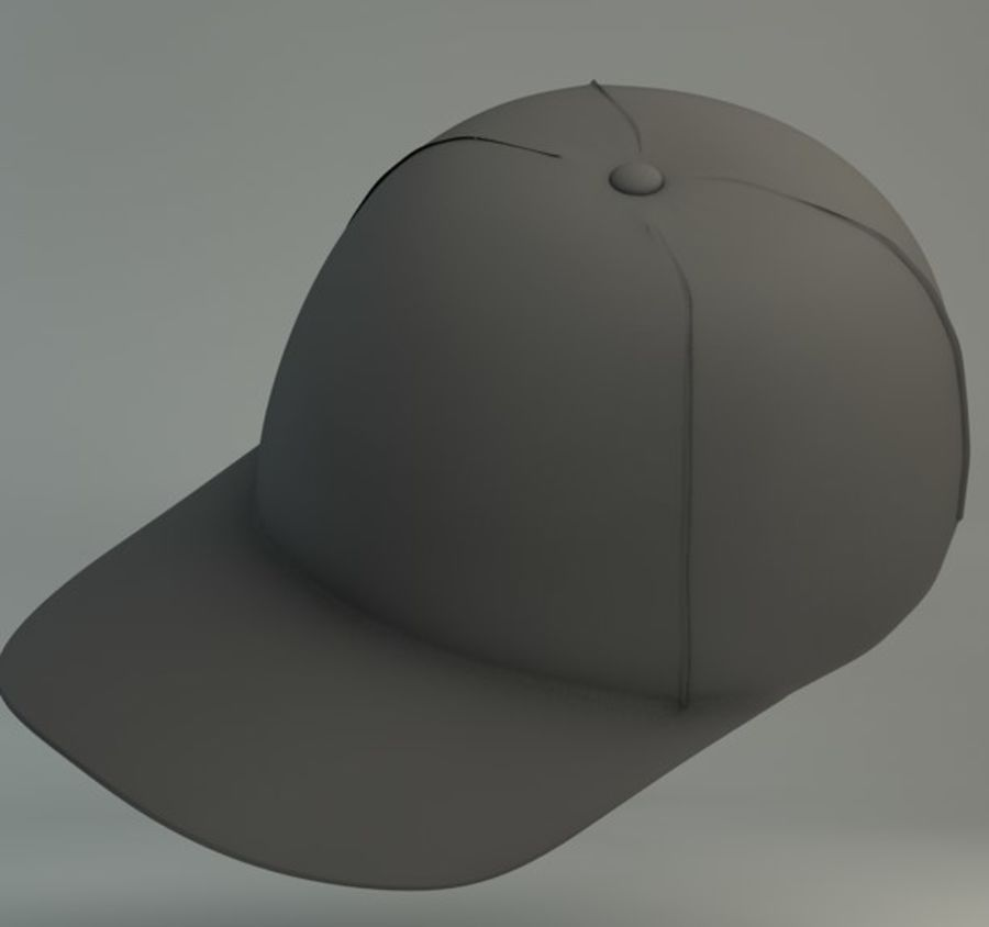 Boné de baseball royalty-free 3d model - Preview no. 4