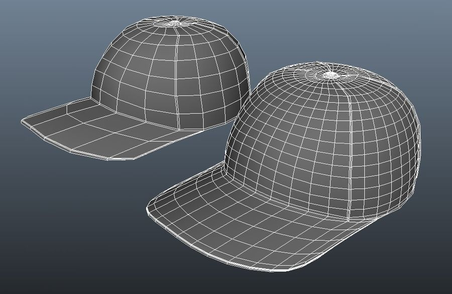 Boné de baseball royalty-free 3d model - Preview no. 3