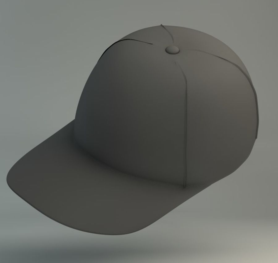 Boné de baseball royalty-free 3d model - Preview no. 2