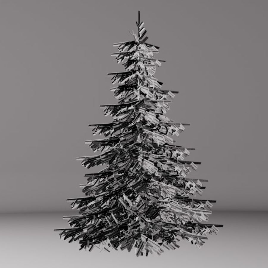 Dennenboom royalty-free 3d model - Preview no. 3