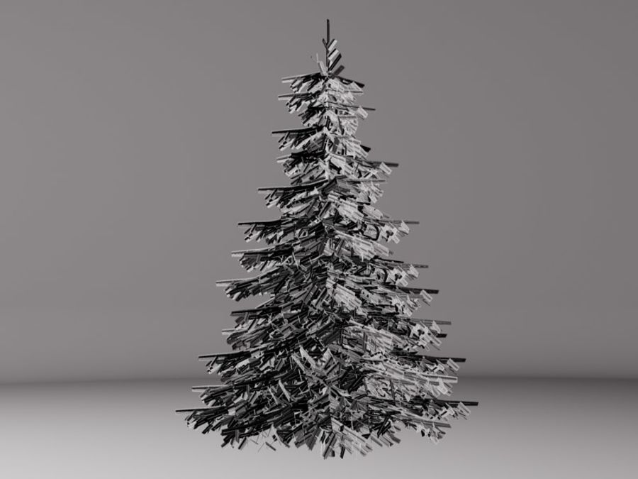 Fir Tree royalty-free 3d model - Preview no. 3