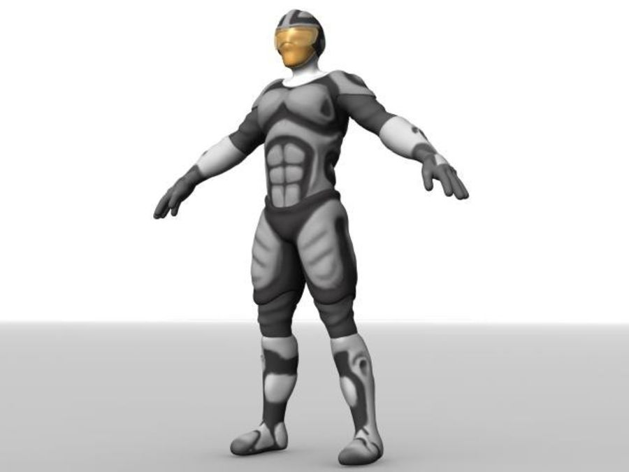 Space Ranger royalty-free 3d model - Preview no. 11