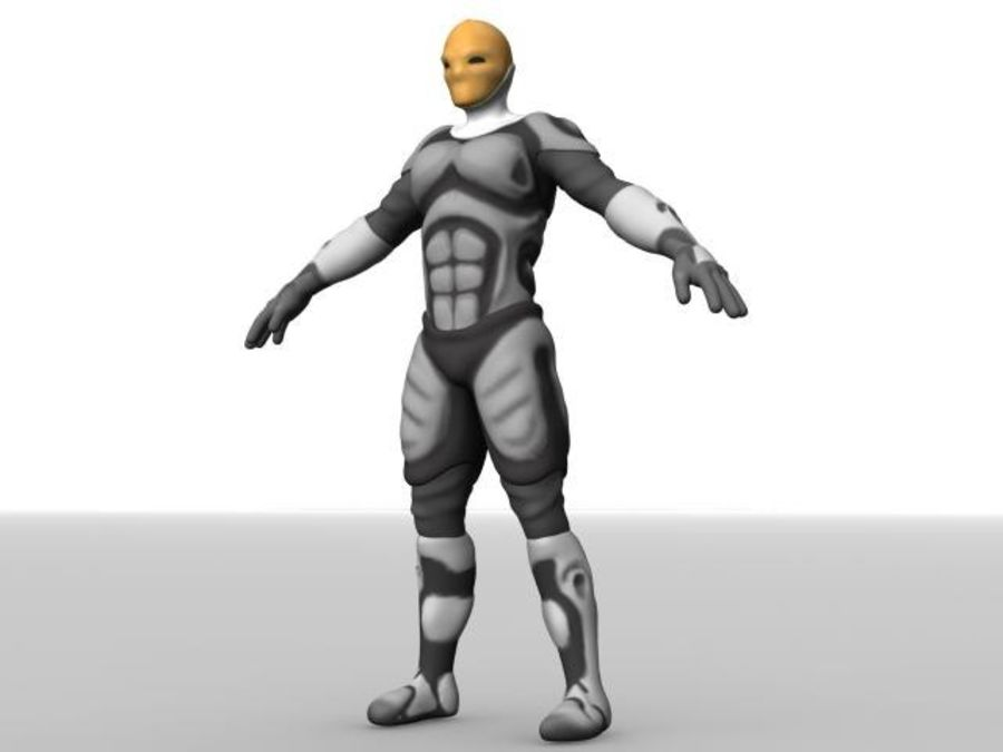 Space Ranger royalty-free 3d model - Preview no. 14