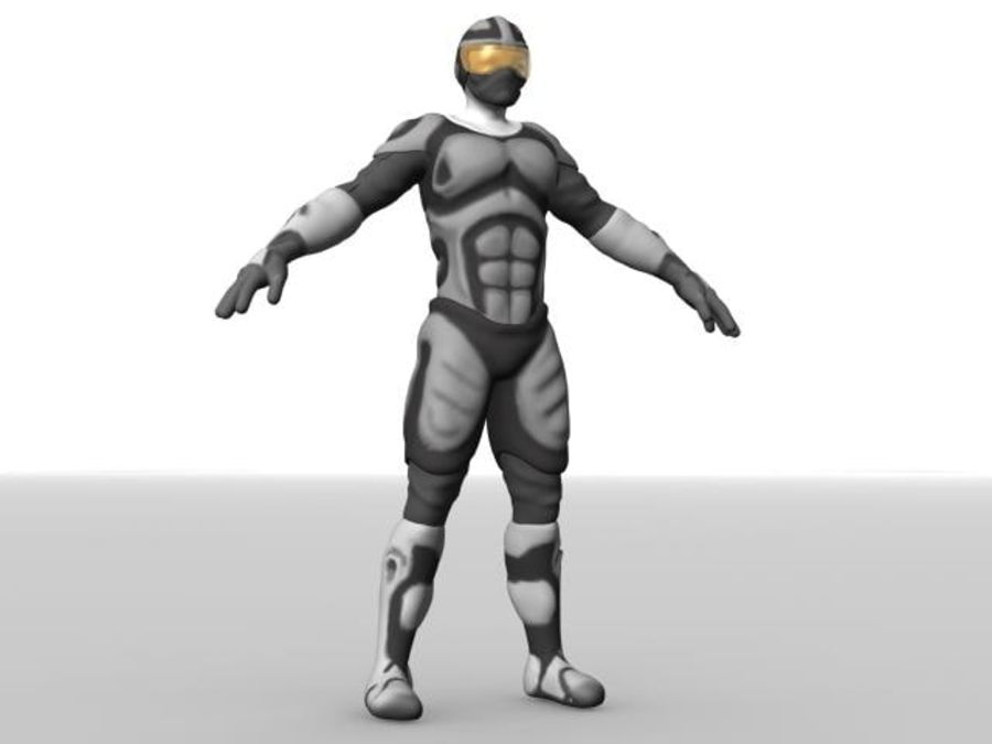 Space Ranger royalty-free 3d model - Preview no. 1