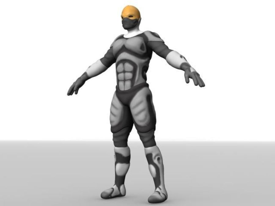 Space Ranger royalty-free 3d model - Preview no. 13