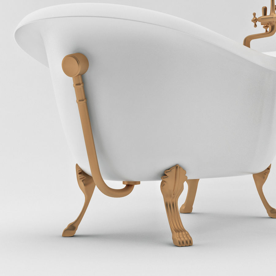 Vintage Bath Tub Royalty Free 3d Model   Preview No. 7