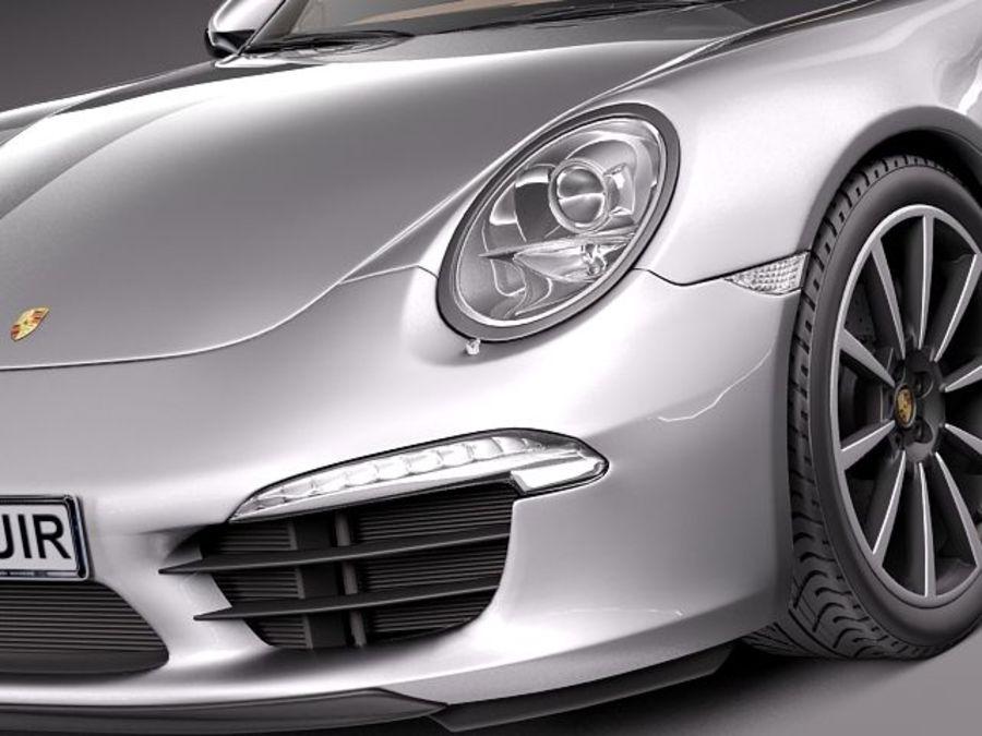 Porsche 911 Carrera 2013 royalty-free 3d model - Preview no. 3