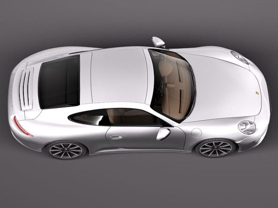 Porsche 911 Carrera 2013 royalty-free 3d model - Preview no. 8