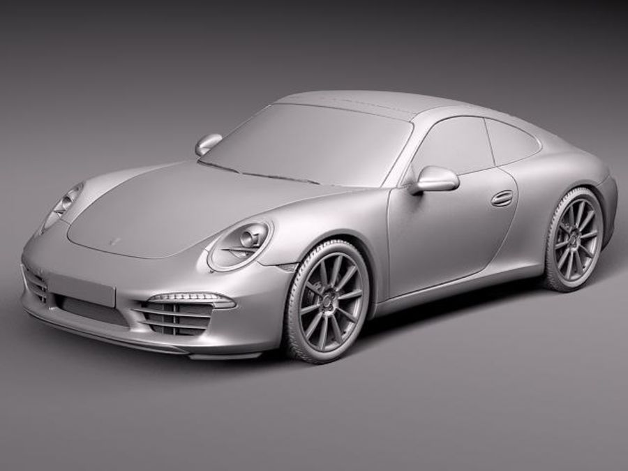 Porsche 911 Carrera 2013 royalty-free 3d model - Preview no. 13