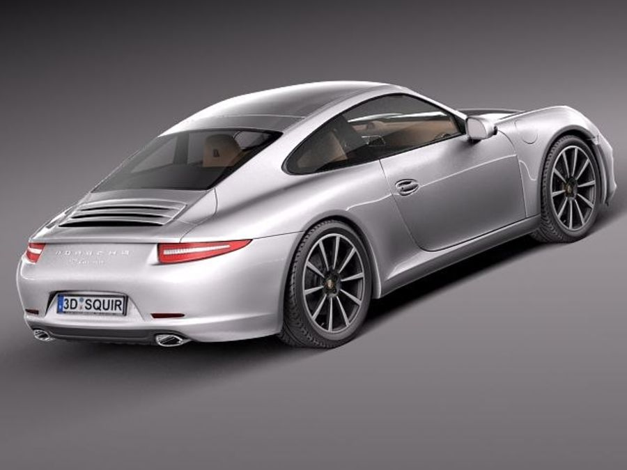 Porsche 911 Carrera 2013 royalty-free 3d model - Preview no. 5