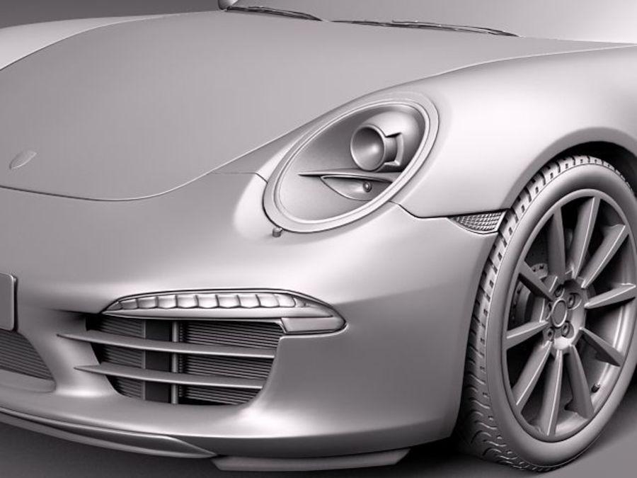 Porsche 911 Carrera 2013 royalty-free 3d model - Preview no. 12