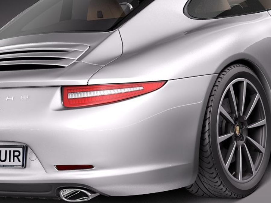 Porsche 911 Carrera 2013 royalty-free 3d model - Preview no. 4