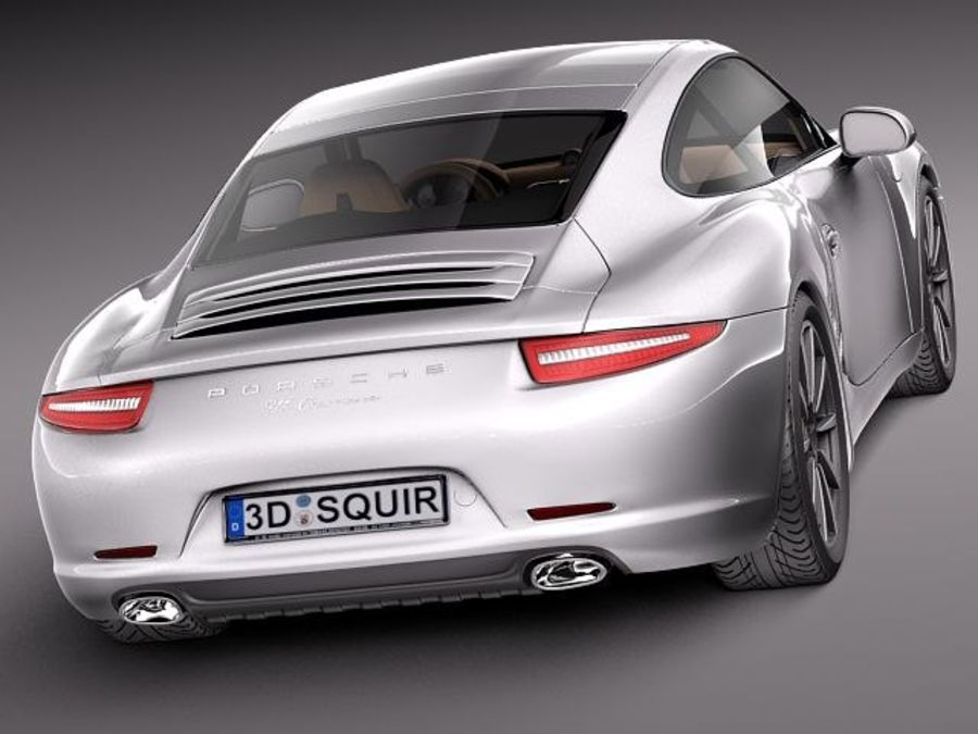 Porsche 911 Carrera 2013 royalty-free 3d model - Preview no. 6