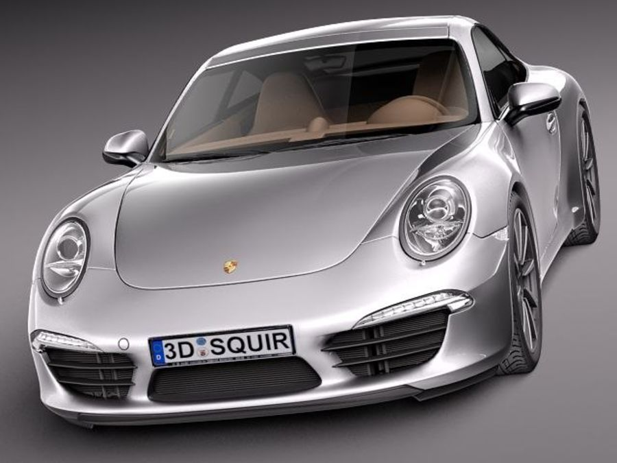 Porsche 911 Carrera 2013 royalty-free 3d model - Preview no. 2
