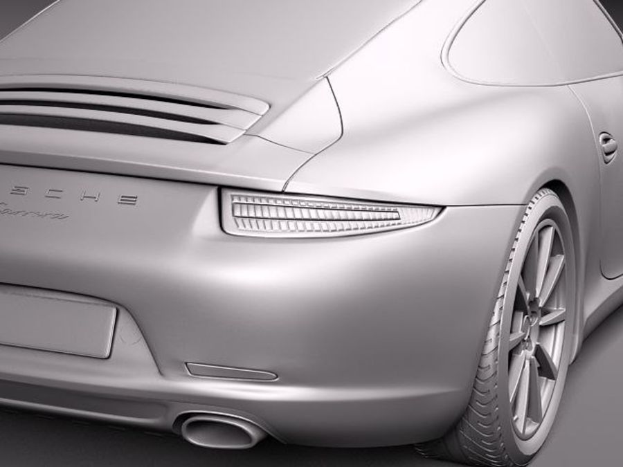 Porsche 911 Carrera 2013 royalty-free 3d model - Preview no. 11