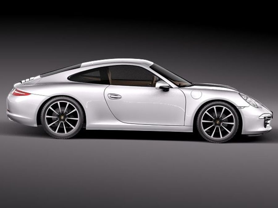 Porsche 911 Carrera 2013 royalty-free 3d model - Preview no. 7