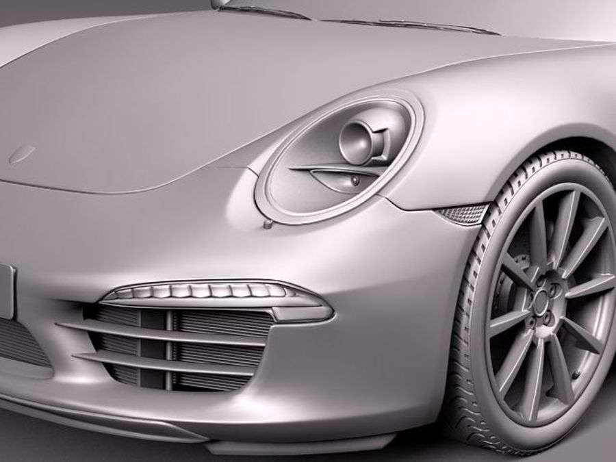 Porsche 911 Carrera 2013 royalty-free 3d model - Preview no. 12