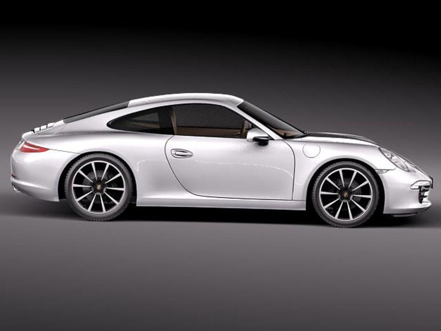Porsche 911 Carrera 2013 royalty-free 3d model - Preview no. 7