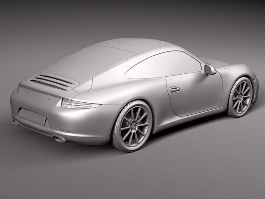 Porsche 911 Carrera 2013 royalty-free 3d model - Preview no. 10