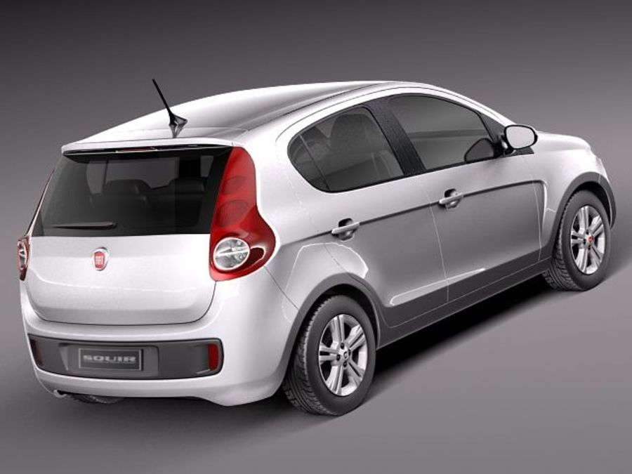 Fiat Palio 2012 royalty-free 3d model - Preview no. 5