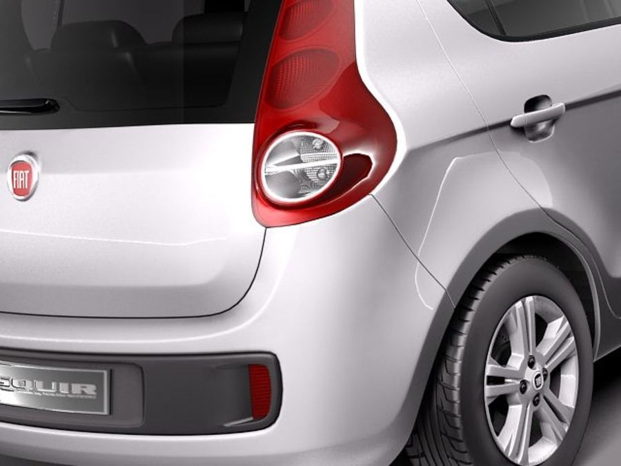 Fiat Palio 2012 royalty-free 3d model - Preview no. 4