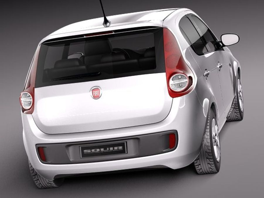 Fiat Palio 2012 royalty-free 3d model - Preview no. 6