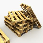 Деревянный поддон 3d model