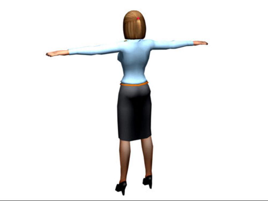 女孩 royalty-free 3d model - Preview no. 3