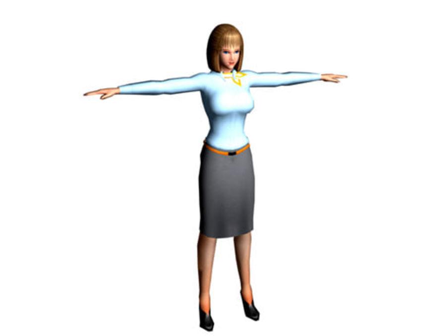 女孩 royalty-free 3d model - Preview no. 2