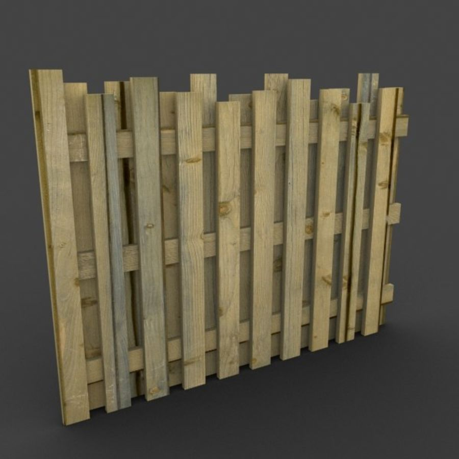 Recinzione in legno royalty-free 3d model - Preview no. 2