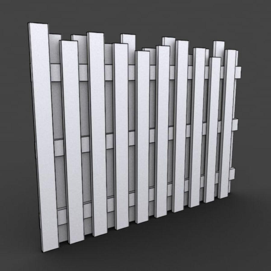 Recinzione in legno royalty-free 3d model - Preview no. 4
