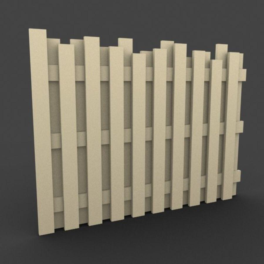 Recinzione in legno royalty-free 3d model - Preview no. 5