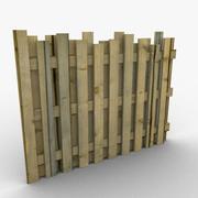 Recinzione in legno 3d model