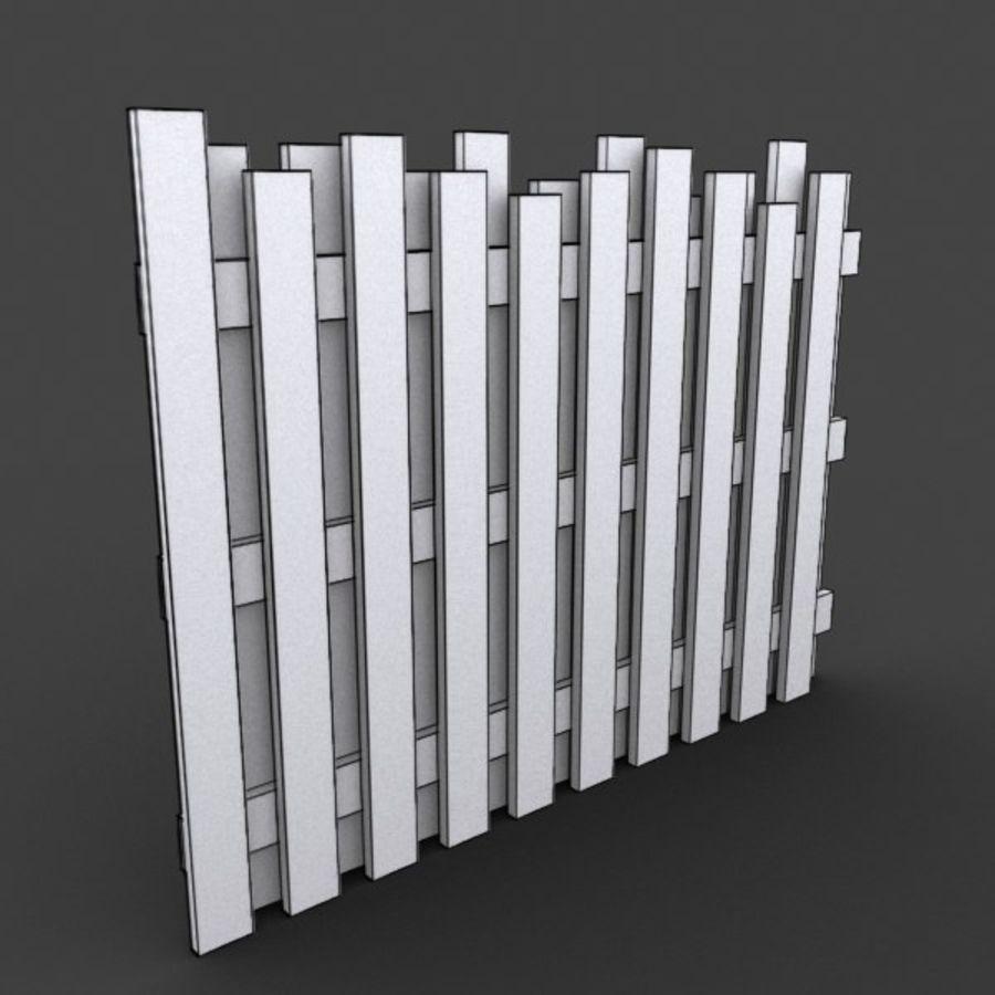 Recinzione in legno royalty-free 3d model - Preview no. 3