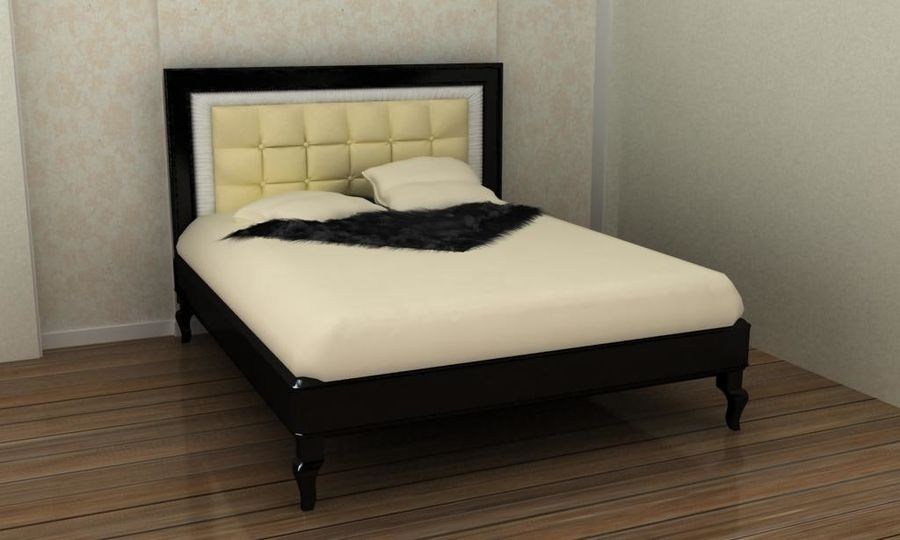 letto royalty-free 3d model - Preview no. 1