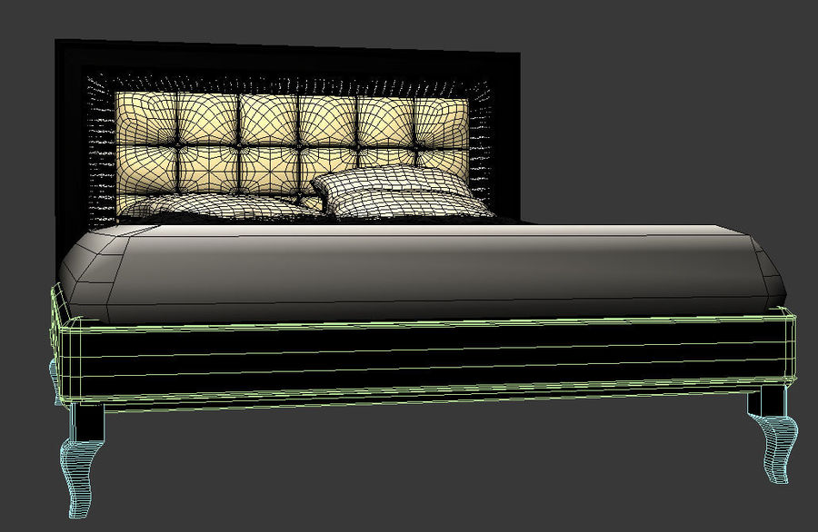 letto royalty-free 3d model - Preview no. 3