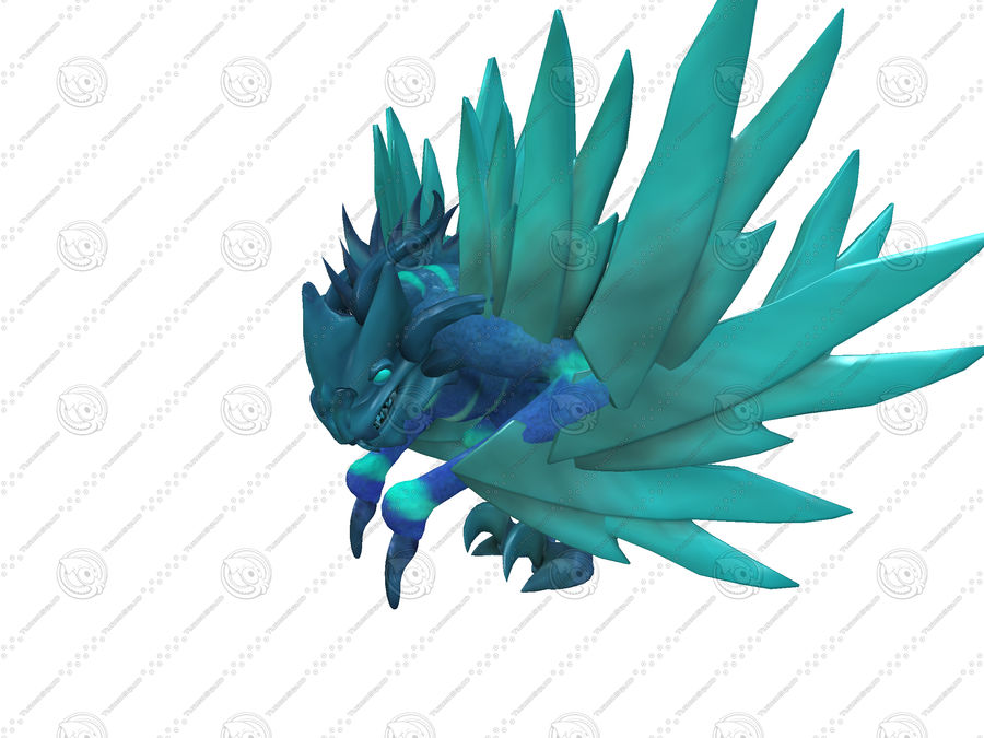 Ice Dragon royalty-free 3d model - Preview no. 4