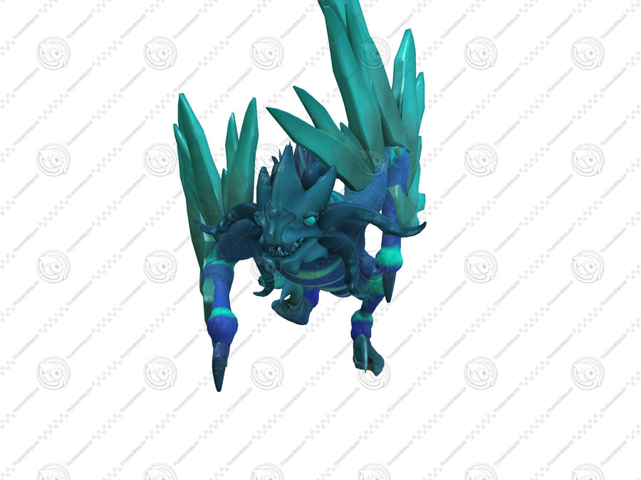 Ice Dragon royalty-free 3d model - Preview no. 5