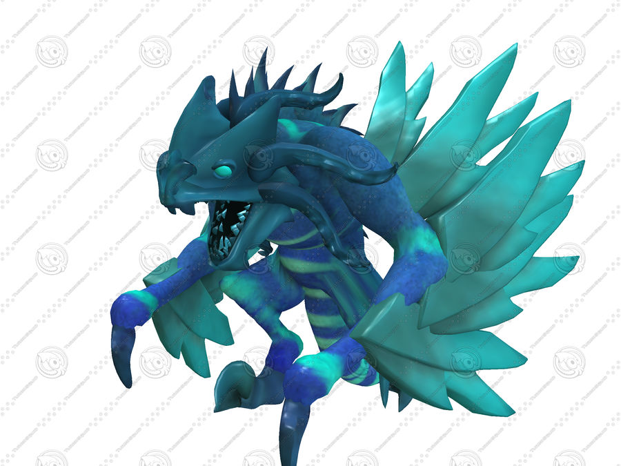 Ice Dragon royalty-free 3d model - Preview no. 7