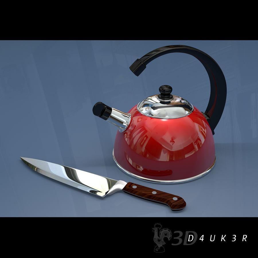 Bouilloire (couteau gratuit) royalty-free 3d model - Preview no. 1