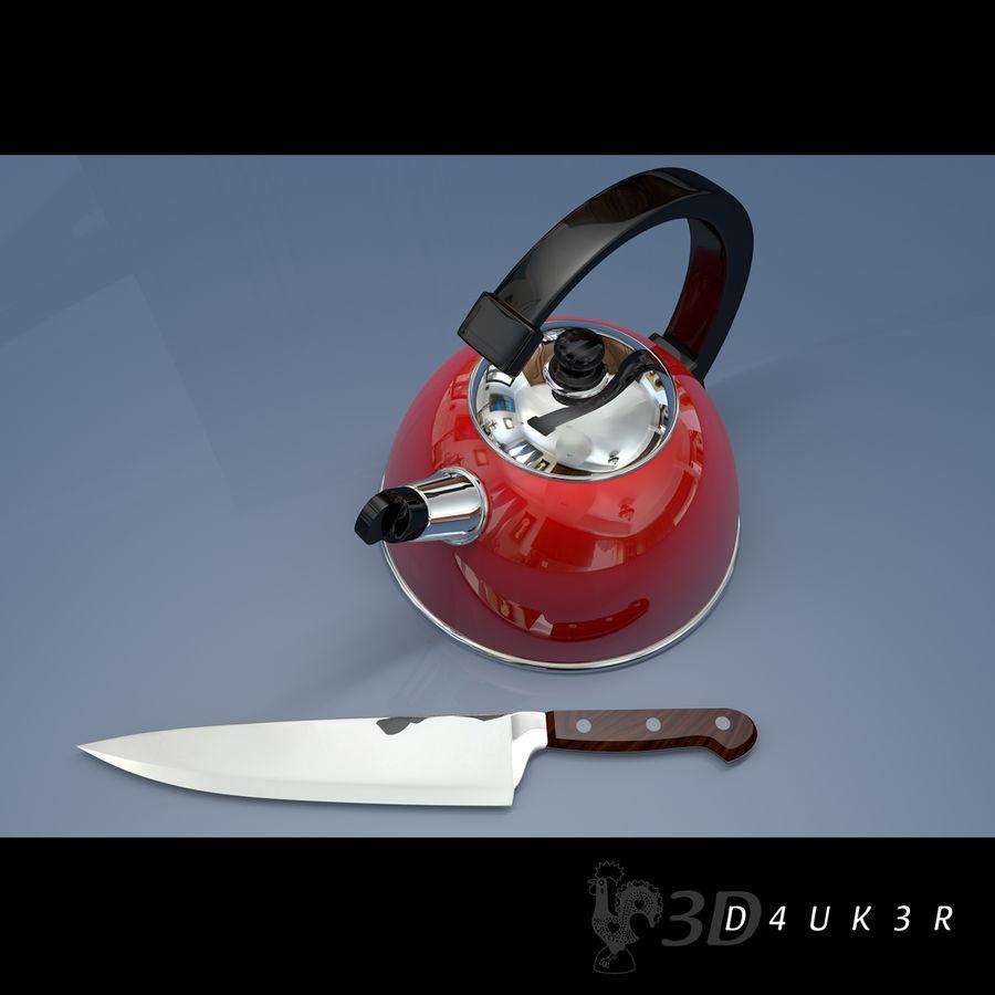 Bouilloire (couteau gratuit) royalty-free 3d model - Preview no. 3