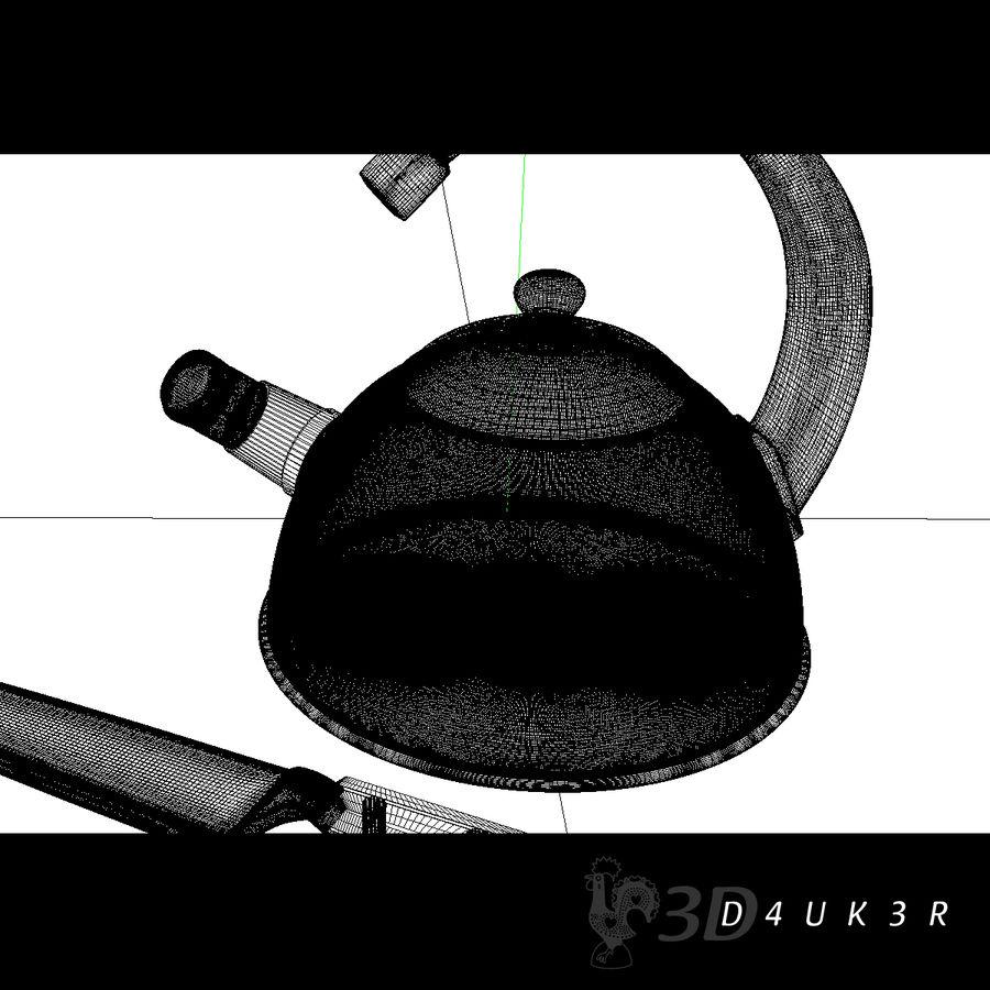 Bouilloire (couteau gratuit) royalty-free 3d model - Preview no. 4