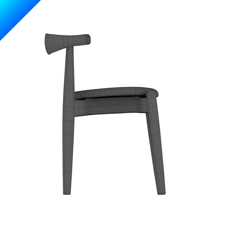 Hans Wegner Ch20 Elbow Chair royalty-free 3d model - Preview no. 12