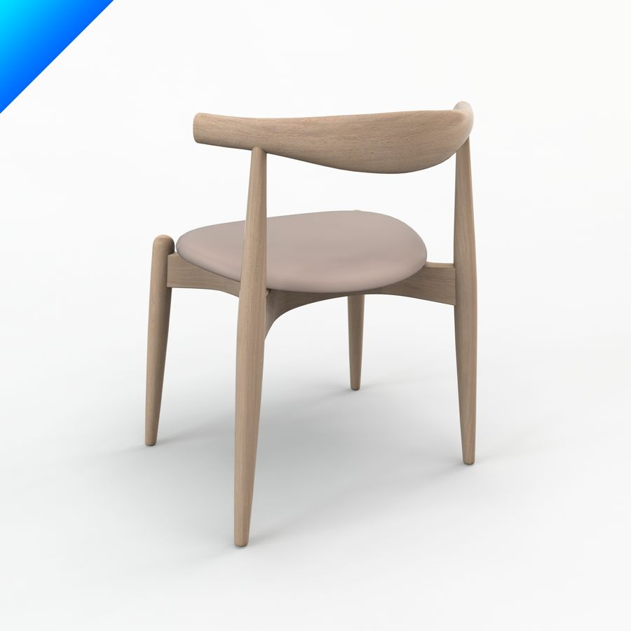 Hans Wegner Ch20 Elbow Chair royalty-free 3d model - Preview no. 3